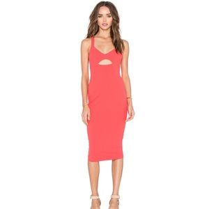 Nookie Donna bodycon in Coral size  small